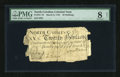Colonial Notes:North Carolina, North Carolina March 9, 1754 20s PMG Net Very Good 8....