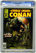 Magazines:Adventure, Savage Sword of Conan #15 (Marvel, 1976) CGC NM+ 9.6 Off-white to white pages....
