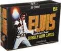 Memorabilia:Trading Cards, Elvis Collectors Series Trading Cards Wax Pack Box (Donruss,1978)....