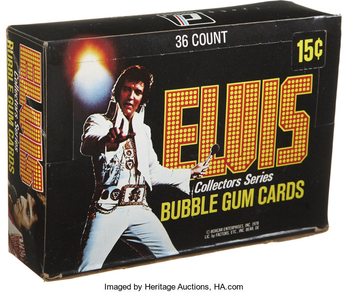 Elvis Collectors Series Trading Cards Wax Pack Box Lot 17546
