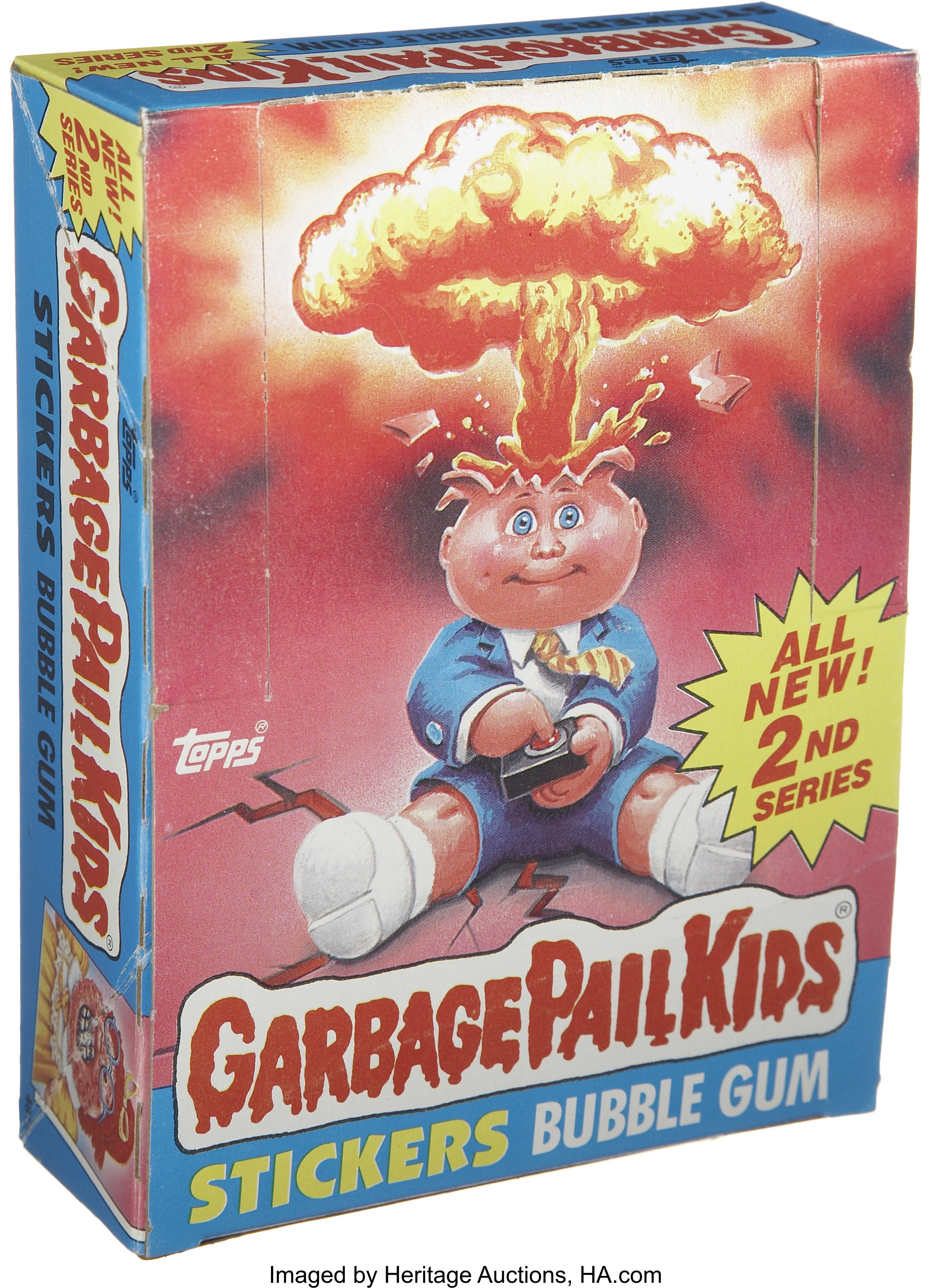 Garbage Pail Kids Series 2 Trading Stickers Wax Pack Box Topps Lot 17549 Heritage Auctions