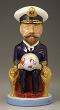 Ceramics & Porcelain, Continental:Other , Staffordshire George V Ceramic Toby Mug. by Sir FrancisCarruthers Gould, Wilkinson, circa 1915. A WWI periodcharacte...