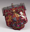 Royal Memorabilia:Continental, Queen Victoria Jubilee Needlepoint Bag with Royal Coat of Arms ofthe United Kingdom. 1887. For the Golden Jubilee, in...