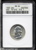 Washington Quarters: , 1937 25C Doubled Die Obverse MS64 ANACS....