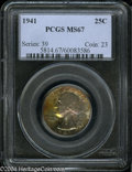 Washington Quarters: , 1941 25C MS67 PCGS....