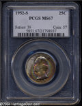 Washington Quarters: , 1952-S 25C MS67 PCGS....