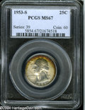 Washington Quarters: , 1953-S 25C MS67 PCGS....