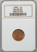 1896 1C MS63 Red NGC. NGC Census: (10/137). PCGS Population: (20/261). MS63. Mintage 39,057,292. ...(PCGS# 2195)
