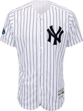 Baseball Collectibles:Uniforms, 2018 Andrew McCutchen Game Worn New York Yankees Jersey Used 10/3 vs. Oakland Wild Card Win - MLB Authentic, Yankees-Steiner H...