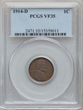 Lincoln Cents: , 1914-D 1C VF35 PCGS. PCGS Population: (552/1837). NGC Census: (230/1002). Mintage 1,193,000. ...