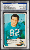 Autographs:Sports Cards, Signed 1954 Bowman Leon Hart #112 PSA/DNA Authentic. ...