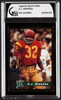 Autographs:Sports Cards, Signed 1990's Sports Legends O. J. Simpson GAI Authentic. ...