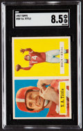 Football Cards:Singles (1950-1959), 1957 Topps Y.A. Tittle #30 SGC NM/MT+ 8.5....