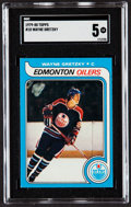 Hockey Cards:Singles (1970-Now), 1979-80 Topps Wayne Gretzky #18 SGC EX 5....