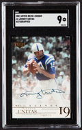 Autographs:Sports Cards, 2001 Upper Deck Legends Autograph Johnny Unitas #JU SGC Mint 9....