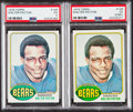 Football Cards:Singles (1970-Now), 1976 Topps Walter Payton PSA-Graded Pair (2). ...