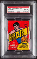 Basketball Cards:Unopened Packs/Display Boxes, 1974 Topps Basketball Unopened Wax Pack PSA NM-MT 8....