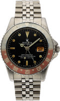 Timepieces:Wristwatch, Rolex, Ref. 1675 Steel GMT-Master, Pointed Crown Guard, Circa 1964. ...