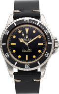 Timepieces:Wristwatch, Rolex, Ref. 5513 Submariner, Gloss Gilt Dial, Stainless Steel, Circa 1965. ...