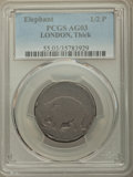 (1694) 1/2 P London Elephant Token, Thick Planchet, AG3 PCGS. PCGS Population: (1/222). NGC Census: (0/65). ...(PCGS# 55...