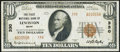 National Bank Notes:Maine, Lewiston, ME - $10 1929 Ty. 2 The First NB Ch. # 330 Very Fine.....