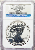 Modern Bullion Coins, 2011-P $1 Reverse Proof Silver Eagle, 25th Anniversary Set, Early Releases PR70 NGC. NGC Census: (2883). PCGS Population: (...