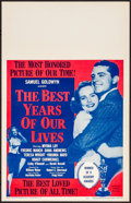 Movie Posters:Drama, The Best Years of Our Lives (RKO, R-1954). Very Fine/Near ...