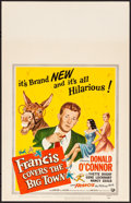 "Movie Posters:Comedy, Francis Covers the Big Town & Other Lot (Universal International, 1953). Very Fine+. Window Cards (2) (14"" X 22""). Comedy.. ... (Total: 2 Items)"