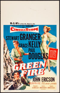 "Green Fire & Other Lot (MGM, 1954). Very Fine. Window Cards (2) (14"" X 22""). Adventure. ... (Total: 2 Item..."