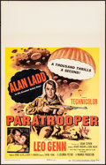 """Movie Posters:War, Paratrooper & Other Lot (Columbia, 1953). Very Fine+. Window Cards (2) (14"""" X 22""""). War.. ... (Total: 2 Items)"""