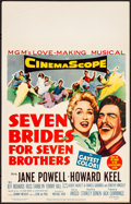 "Movie Posters:Musical, Seven Brides for Seven Brothers (MGM, 1954). Very Fine. Window Card (14"" X 22""). Musical.. ..."