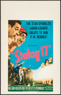 Movie Posters:War, Stalag 17 (Paramount, 1953). Very Fine+. Window Ca...