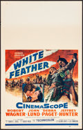 "Movie Posters:Western, White Feather & Other Lot (20th Century Fox, 1955). Very Fine. Window Cards (3) (14"" X 22""). Western.. ... (Total: 3 Items)"