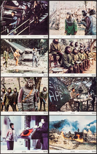 """Battle for the Planet of the Apes (20th Century Fox, 1973). Near Mint. Mini Lobby Card Set of 8 (8"""" X 10""""). Sc..."""