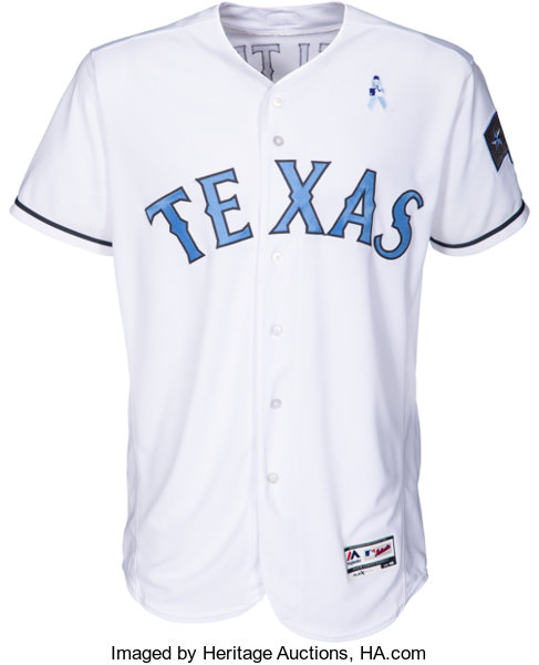 new arrivals a1e60 49449 2017 Adrian Beltre Game Worn Texas Rangers Father's Day ...