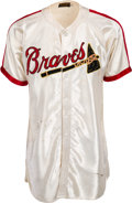 Baseball Collectibles:Uniforms, 1946-48 Ernie White Game Worn Boston Braves Satin Jersey & Alvin Dark Pants - Rare Style, MEARS A9/Authentic....