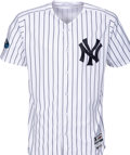 Baseball Collectibles:Uniforms, 2018 Zach Britton Game Worn New York Yankees Jersey Used 10/3 vs.Oakland Wild Card Win - MLB Authentic, Yankees-Steiner Holog...