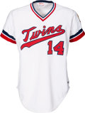 Baseball Collectibles:Uniforms, 1982 Kent Hrbek Game Worn Minnesota Twins Rookie Jersey....