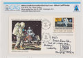 "Explorers:Space Exploration, Milton Caniff Signed ""First Man On The Moon"" Official MSC Stamp Club First Day Cover Directly From The Armstrong Family Co..."