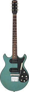 Musical Instruments:Electric Guitars, 1965 Gibson Melody Maker Pelham Blue Solid Body Electric Guitar, Serial # 530091....