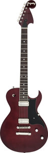Musical Instruments:Electric Guitars, 2002 Bigsby BYS48A Burgundy Solid Body Electric Guitar, Serial # 022S48A-4....