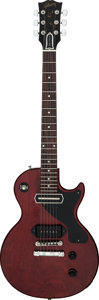 Musical Instruments:Electric Guitars, 2007 Gibson Les Paul Junior John Lennon Signature Red Stai...