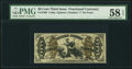 Fractional Currency:Third Issue, Fr. 1360 50¢ Third Issue Justice PMG Choice About Unc 58 EPQ.. ...