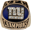 Football Collectibles:Others, 2000 New York Giants NFC Championship Pendant Ring....
