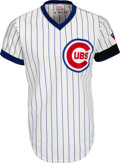 Baseball Collectibles:Uniforms, 1976 Andre Thornton & Jerry Tabb Worn Chicago Cubs Jersey with Chicago Bicentennial Patch & Black Armband....