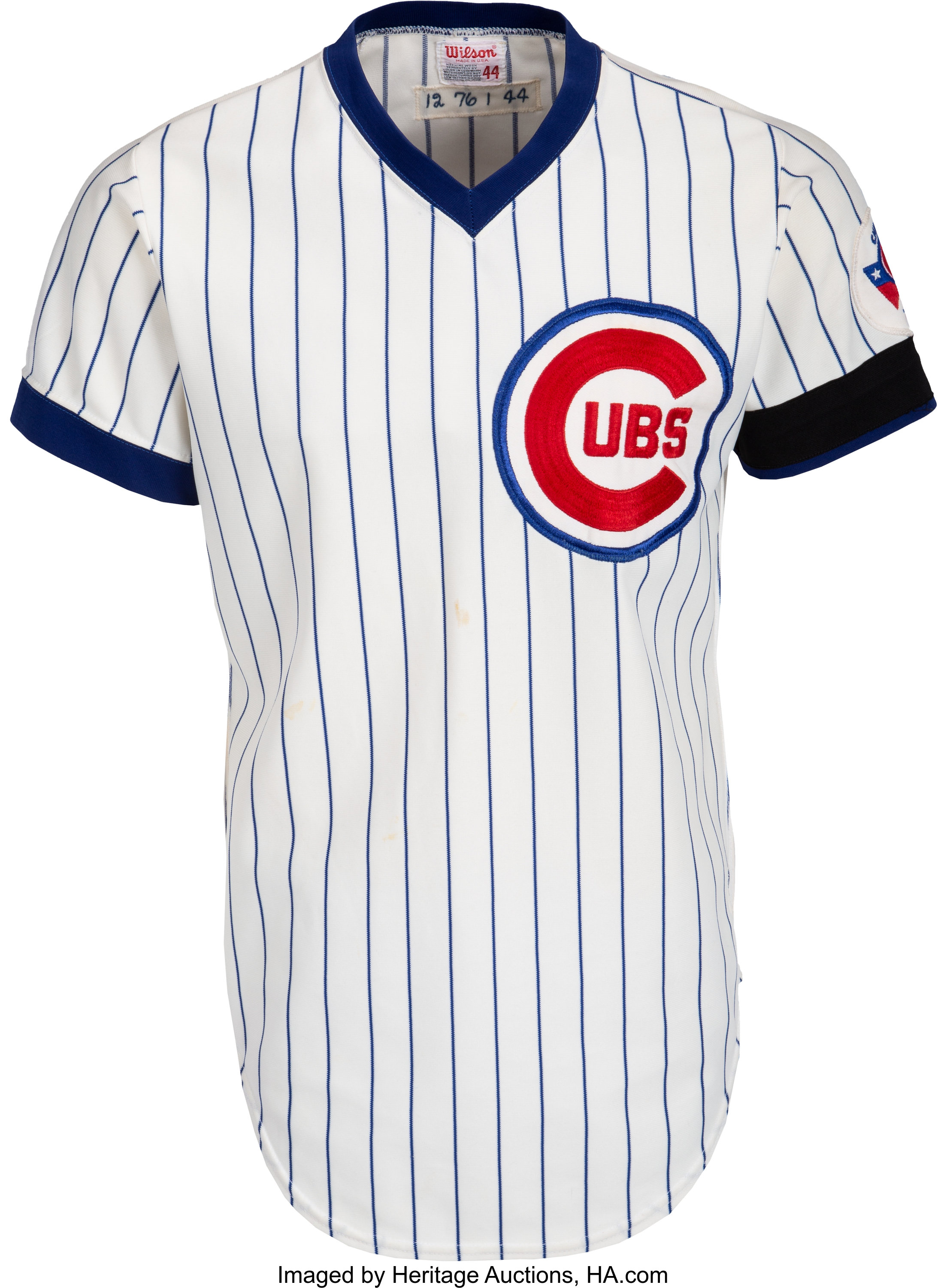 the latest ec4a5 e479d 1976 Andre Thornton & Jerry Tabb Worn Chicago Cubs Jersey ...
