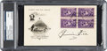 Autographs:Others, 1950's Jimmie Foxx Signed Baseball Centennial First Day Cover, PSA/DNA Mint 9....