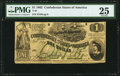 Confederate Notes:1862 Issues, T45 $1 1862 PMG Very Fine 25.. ...
