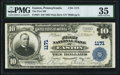 National Bank Notes:Pennsylvania, Easton, PA - $10 1902 Plain Back Fr. 624 The First NB Ch. # 1171 PMG Choice Very Fine 35.. ...