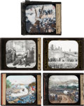 Military & Patriotic:Civil War, Civil War: Set of Five Glass Color Slides.. ... (Total: 5 Items)